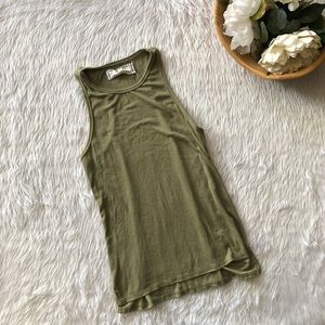 Pure + Good Olive High Neck Tank